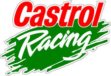 2x Castrol Oil Racing Des 3 Stickers race rally car motorbike 200mm auto0146