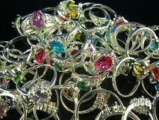 HOT!! wholesale 10pcs 925 Silver Plated mixed CZ Rings 6-8