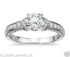 1.71CT BRILLIANT CUT DUET DIAMOND SOLITAIRE ENGAGEMENT RING 14CT WHITE GOLD