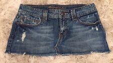 Abercrombie & Fitch Womens Distressed Denim 5 Pocket Jean Micro Mini Skirt, Sz 0