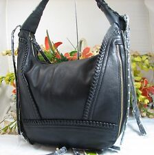 Gorgeous ORYANY Michelle Large Black Leather Expandable Hobo MSRP $275 NWT