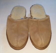 SOX-TAB Suede Leather Upper Clog Mule Slipper Faux Fur Lining Women's Size 4/5