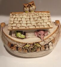 Noah's Ark Cookie Jar Treasure Craft USA 1960s Vintage