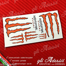 7 Adesivi Drink Energy ORANGE Arancione Sticker vari formati