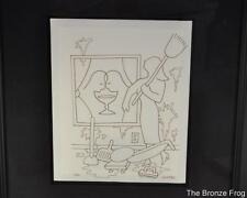 ORIGINAL DRAWING SIGNED MARK KOSTABI INK ON PAPER DOMESTIC BLISS