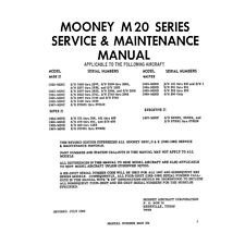 Mooney M20 Series Aircraft Service And Maintenance Manual!