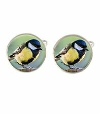 Chickadee Bird Mens Cufflinks Ideal Wedding Birthday Fathers Day Gift C442