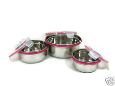 Trueware Clip and Close Steel Air Tight containers with Lid 3 Pc Set
