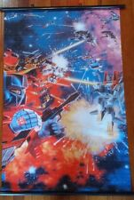 "TRANSFORMERS ""G1 BOX BATTLE 84"" 60cm X 90cm ANIME CLOTH WALL SCROLL"