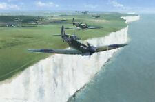 "Supermarine Spitfire Mk.I White Cliffs of Dover Painting Art Print - 14"" Print"