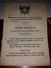 REGIO DECRETO 1863AUT OCCUP TEM USO MILITARE CONVENTO BENEDETTINI PALERMO BIANCH