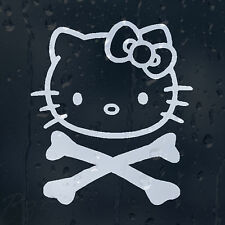 Hello Kitty Crossbones cráneo coche decal pegatina de vinilo