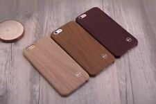 New PU Leather Ultra-thin Wooden Soft Case Cover For iPhone 6/6S - DARK BROWN