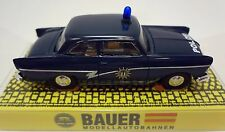 BAUER FORD 17M 1955 BERLIN POLICE W/BLINKING LIGHT T-JET 500 CHASSIS FOR AURORA