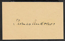 Titanic Architect Thomas Andrews Autograph Reprint On Original 1912 3X5 Card