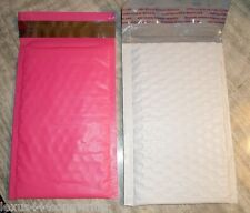 30~  PINK + WHITE  BUBBLE MAILERS 5x7  FAST SHIP
