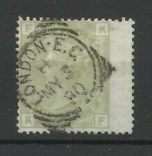 1873/80 Sg 153, 4d Sage Green (KF) Plate 16 with CDS Cancel, Superb Used.