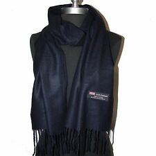 New Fashion 100% Cashmere Scarf Solid Dark Blue Warm Wool Wrap #W202