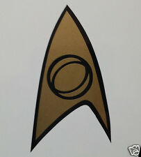 Star Trek Science Insignia TOS cut vinyl bumper sticker decal