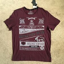 BUFFALO DAVID BITTON Nedom Red Wine Tee Shirt BPM10357 (Medium) NWT $39
