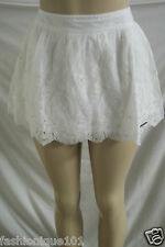 NWT ABERCROMBIE & FITCH WOMENS WHITE LACE SEQUIN MINI SKIRT ALICIA SIZE SMALL