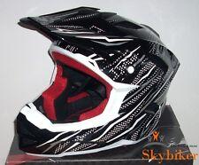BMX Downhill Freeride Fahrrad Helm - Größe L - schwarz/silber