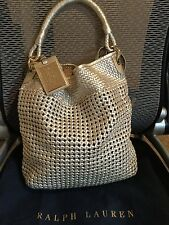 Ralph Lauren Italy Women's Metallic Leather Hobo Handbag Superb Quality $ 1950.