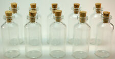 20 Mini Glass 10 ml Bottles with Corks, DIY Wedding Favors, Message in a Bottle