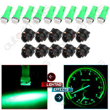10x T5 74 Twist Socket 1-SMD Green Instrument Panel Cluster Dash Led Light Bulb