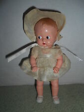 "VTG IDEAL 8 1/2"" Celluloid Doll w/ Original Outfit Boopsie Type Molded Hair"