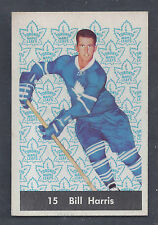 1961 Parkhurst #15 Bill Harris Toronto Maple Leafs NM to NM Plus