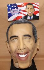 BARACK OBAMA HALLOWEEN FUNNY POLITICAL LATEX MASK ADULT ONE SIZE FITS ALL NWT