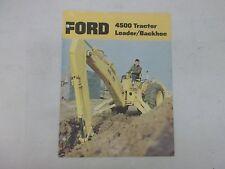 Ford Model 4500 Tractor Loader Backhoe Sales Brochure