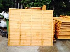 Wooden Fence Heavy Duty Lap Panel 6ftx5ft Fully framed 5 bars BARGAIN