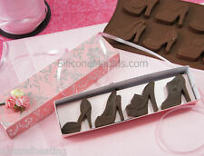 8 high heeled shoes Zapatos Bakeware del silicón Molde Molde del chocolate Cookie Candy