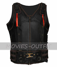 Batman The Dark Knight Rises Tom Hardy Black Bane Leather Costume Biker Vest