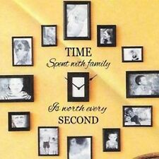 Time Spent with Family is Worth Every Second Art Wall Quote Stickers Home Decals