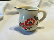 COLUMBIA RED POPPY 2 OZ. CREAMER ~ HALL CHINA PATTERN