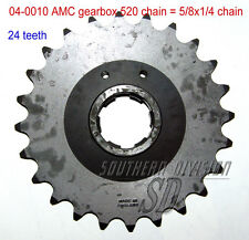 AMC gearbox sprocket 24 teeth Norton Ritzel 520 chain 5/8x1/4 Dominator ES2