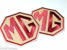 Set o 4 MG Car Racing Overall Cloth Patch Badges - Iron on