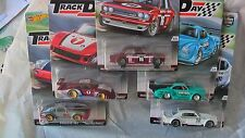 HOT WHEELS 1/64  CAR CULTURE TRACK DAY SET OF 5 CARS PORSCHE DATSUN VW CHEVY