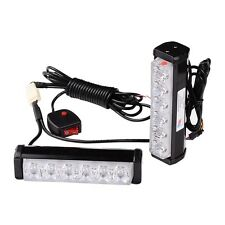 1 Kit LED Red Blue Warning Emergency Beacon Strobe Flash Light Bar Car Truck