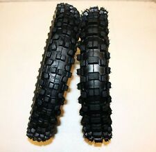 "60/100- 14"" Front 80/100- 12"" Inch Rear Knobby Tyre Tire + Tube PITPro Dirt Bike"