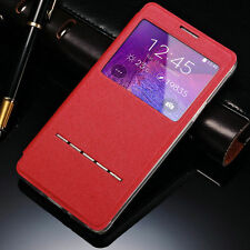 Slim Flip Window View Leather Smart Case Cover For Samsung S3 S4 S5 Note 3 4