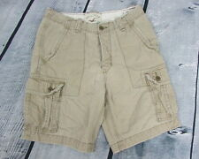 Men's Hollister Beige Tan Rugged Distressed Cargo Shorts Size 31