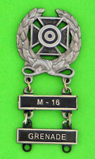 Army Expert Marksmanship Badge with  M-16 and GRENADE Qualification Bars M16