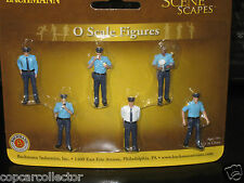 Bachmann O (1/43-50) Police Figure Set - For Model Train Layouts or Dioramas