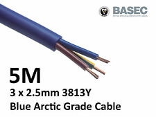 5M Arctic Blue 3183Y Flex Cable 3core x 2.5mm Outdoor Caravan Camping Artic