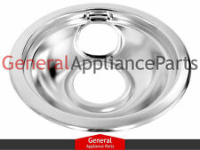 "Whirlpool Magic Chef Maytag Jenn-Air Stove 6"" Chrome Drip Pan Bowl W10196406RW"