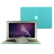"3 in 1 Rubberized Tifany BLUE Case fr Macbook AIR 13"" A1369 Key Cover+LCD Screen"